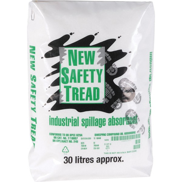 Safety Tread Absorbent Spill Granules - 30 Litres